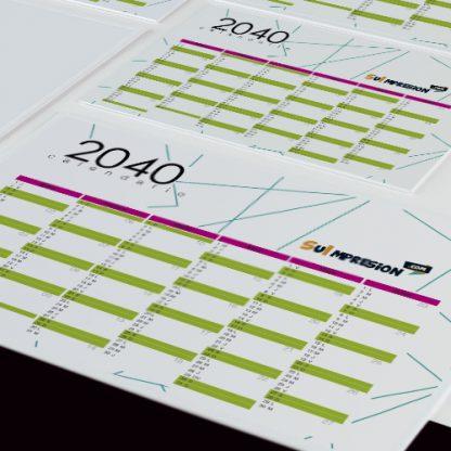 Tarjeta de visita con calendario