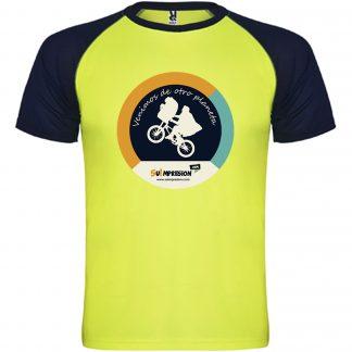 Camiseta deportiva infantil bicolor INDIANAPOLIS