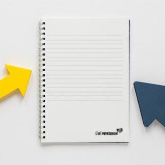 Libreta tapa e interior personalizados B/N