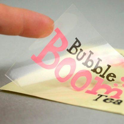 Vinilo transparente adhesivo